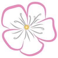 WaenaYoga - Logo - Kirschblüte